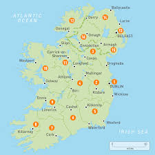 map of ireland  ireland regions  rough guides  rough guides
