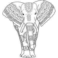 Small Picture This Is Mystical Elephant A Coloring Page For You To Print Best Of