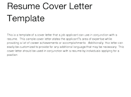 Word Cover Letter Template Free Resume Cover Letter Template Free