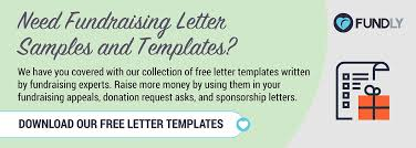 fundraising letter templates sponsorships donation requests and general fundraising letters