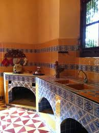 Mexican Style Kitchen Design Classic Mexican Kitchens With Arch Front Kitchen Storage And