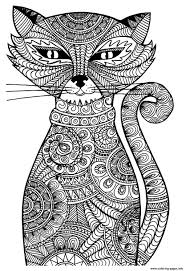 Print Adult Cat Coloring Pages