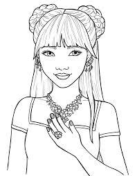 Coloring Pages Of Pretty Girls Free Cute People 8 At People Coloring