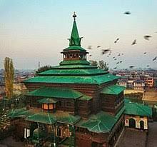 a 14th century mosque of mir sayyid ali hamadani in srinagar kashmir