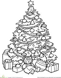 Christmas Tree Coloring Page Classroom Christmas Tree Coloring
