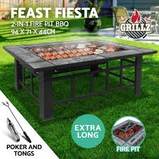 grillz outdoor fire pit bbq table grill garden