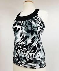 Iz Byer California Dress Size Chart Details About Iz Byer California Sleeveless Black White Gray Blouse Strap Back Top Size M