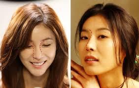 korean actress han eun jung with a beautiful well proportioned nose