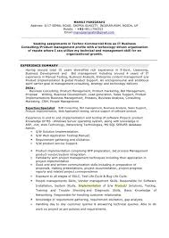 ... Manoj Resume Business Consulting Consulting Resume Format Experience  Summary ...