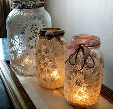 Glass Jar Decorating Ideas Jar Candle Decorating Ideas 2
