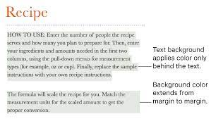add a highlight effect to text in pages