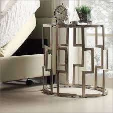 round metal nightstand. Mandell Round Metal Nightstand And