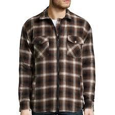 Work King Zip-Front Quilt-Lined Flannel Shirt - JCPenney & Work King Zip-Front Quilt-Lined Flannel Shirt Adamdwight.com