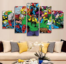 5 panel hd printed avengers hulk spider man painting canvas print room decor print poster picture  on marvel spiderman canvas wall art 4 piece with 2018 5 panel hd printed avengers hulk spider man painting canvas