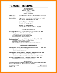 10 Resume For Teachers Position Job Apply Form