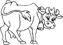 Small Picture Cow coloring page Animals Town animals color sheet Cow