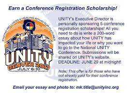earn a registration scholarship unity inc  executive director conference registration scholarships