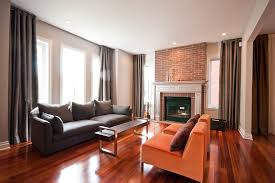 fireplace mantel kits family room contemporary with baseboards brick fireplace surround brick wall ceiling1