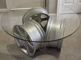 Cool Tables: glass table with 3 MSW Wheels by OZ Wheels via Audizine 2013-