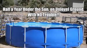 intex above ground swimming pool. INTEX Above Ground Pool On Unlevel \u0026 Working Great! Intex Swimming
