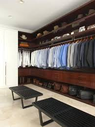 Houzz Master Bedroom Closets Inspiration For A Contemporary Walk In Closet Remodel With Dark Wood