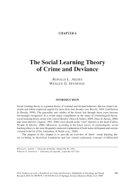sample essay about social control theory essay when one or more of the parts break down the bond breaks which leads one to criminal activity associate of specialized business in criminal justice degree