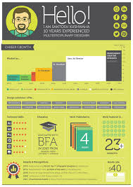 Infographic Resume Examples Designer Resume Template Freshhic Templates Of Design Samples 52