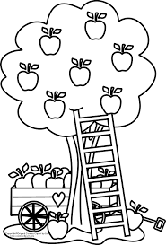 apple tree clipart black and white. tree clipart. apple basket coloring page clipart black and white