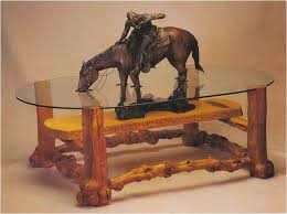 fresh cowboy coffee table awesome home design