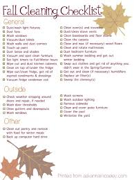 Household Maintenance List Fall Cleaning And Maintenance Checklist The Bear Of Real