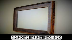 Mirror With Wood Frame Design Reclaimed Mirror Frame
