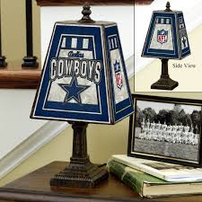 more views dallas cowboys art glass table lamp