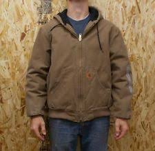 Carhartt Quilted Flannel Lined Sandstone Active Jacket J130 ... & Men's Carhartt J130 Quilted-Flannel-Lined Sandstone Active Jac Coat Adamdwight.com