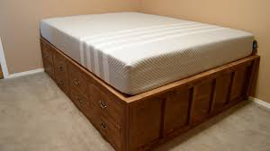 Diy Queen Size Platform Bed Plans King and Queen Beds To Build