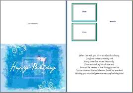 Card Templates For Word Birthday Card Template Word Incheonfair 5