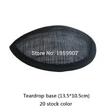 Aliexpress.com : Buy <b>Black</b> Sinamay Teardrop Base <b>Fascinator</b> ...