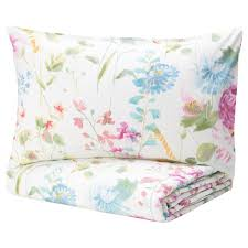 GRÄSVIAL Comforter set, <b>3</b>-<b>pieces</b>, flower, Full/Queen - IKEA
