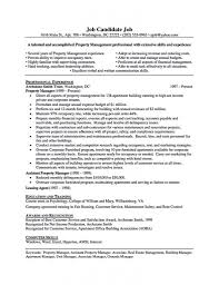 Apartment Manager Duties Apartment Manager Resume Sample Property Manager Resume Sample Bio
