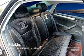 name luxury chanel universal automobile velvet sheepskin car seat cover cushion 10pcs sets black