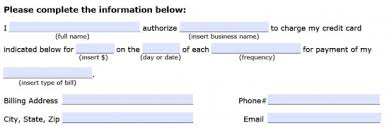 Recurring Payment Authorization Form Download Recurring Payment Authorization Form Template Credit Card