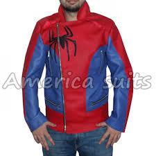 amazing spiderman 2 leather jacket