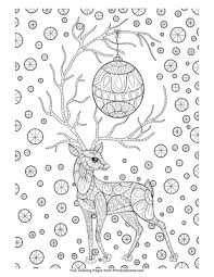 Reindeer are christmas' favorite animals. Zentangle Christmas Reindeer Coloring Page Free Printable Pdf From Primarygames