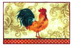 post french country rooster rugs kitchen rug floor washable