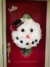 Snowman Wreath, Winter Wreath, Winter Snowman Wreath, Holiday ...
