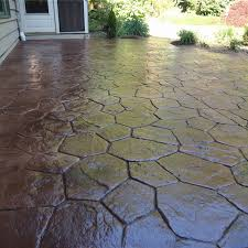 how much does stamped concrete cost per sq ft 2018 flagstone patio installation cost