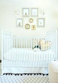 bunny crib sheets neutral gender nursery features an eclectic art gallery as well as a baby bunny crib
