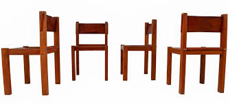 mid century wood leather dining chairs set of 4 1