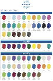 Qualatex Balloons Color Chart Colour Charts Partymoods Events