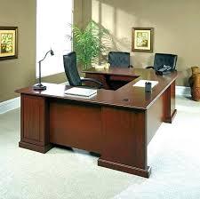 desk angelica sauder office port executive desk shoal creek wood computer oiled oak