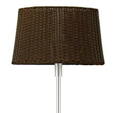 dark brown floor lamp with marble base for outdoor use bild 9